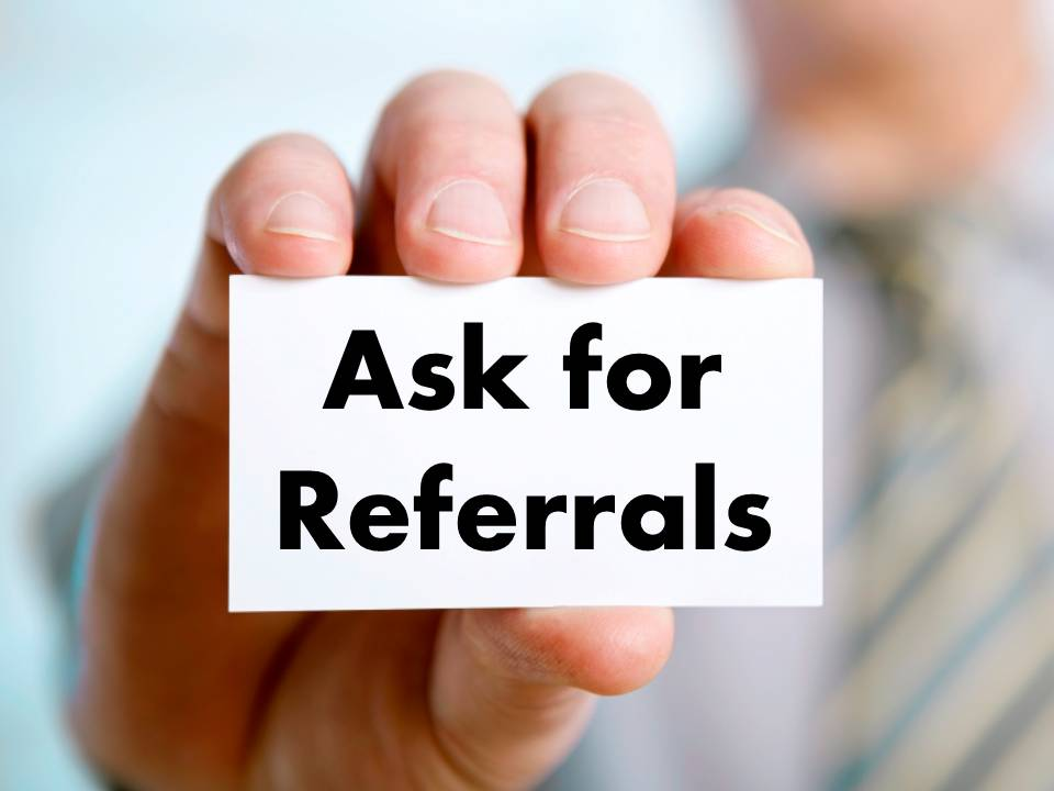 Image result for ask for referral